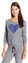 Sundry Women's Heart Crop Pullover