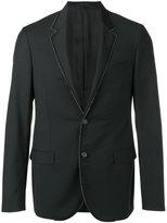 Lanvin grosgrain trimmed blazer - men - Cupro/Mohair/Wool - 52