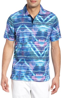 Bugatchi Abstract Print Trim Fit Short Sleeve Shirt