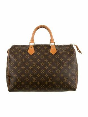 Louis Vuitton Vintage Monogram Speedy 35 Brown