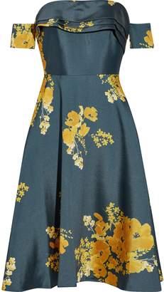 Sachin + Babi Vezee Off-the-shoulder Floral-print Duchesse Satin-twill Dress