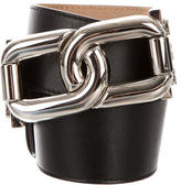 Michael Kors Leather Chain-Link Belt