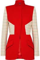 Alexander McQueen Checked Paneled Wool-blend Jacket
