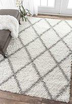 nuLoom Cozy Soft and Plush Diamond Trellis Shag Area Rug