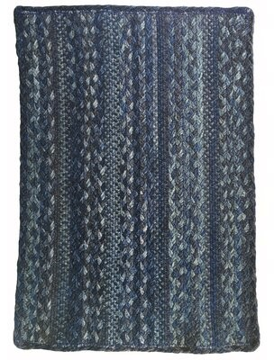 """August Groveâ® Cristian Hand-Braided Wool Blue Area Rug August GroveA Rug Size: Rectangle 11' 4"""" x 14' 4"""""""