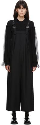 Noir Kei Ninomiya Black Trouser Suspender Jumpsuit