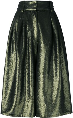Marc Jacobs Micro-Sequin Culotte Trousers