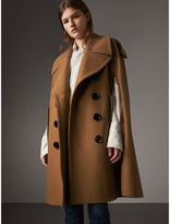 Burberry Wool Double-breasted Military Cape