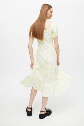 Glamorous Brushstroke Gathered Midi Dress