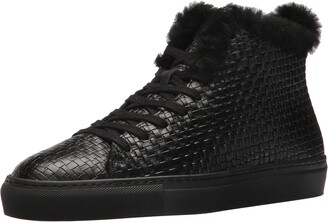Aquatalia Men's Alonzo Embossed Leather Sneaker