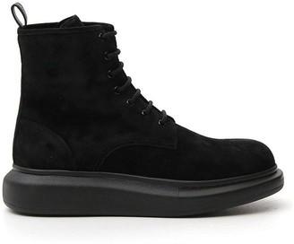 Alexander McQueen High Top Lace Up Boots