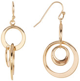Joe Fresh Interlocking Hoops Drop Earrings