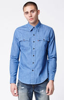 Levi's Orange Tab Chambray Long Sleeve Button Up Shirt