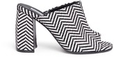 Stella McCartney Woven chevron stripe mules