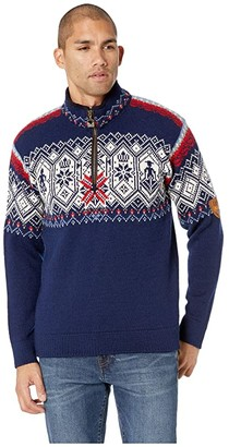 Dale of Norway Norge Sweater (C-Light Navy/Smoke/Off-White/Blue Shadow/Raspberry/Light Charcoa) Men's Sweater