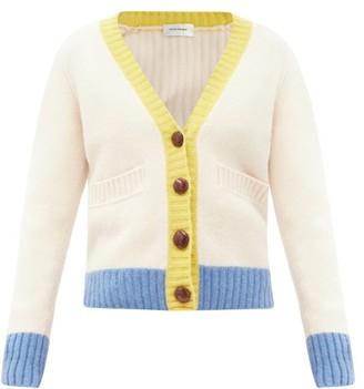 Wales Bonner Johnson Wool V-neck Cardigan - White Multi