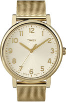 Timex Originals Modern Gold-Tone Stainless Steel Mesh Watch T2N598AB