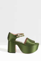 Rochas Satin Platform Sandals