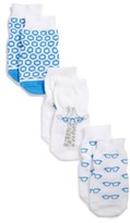 Infant Boy's Robeez Nerdy Giraffe 3-Pack Socks