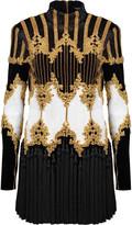 Balmain Tasseled embellished cotton-velvet mini dress