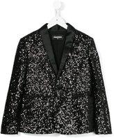 DSQUARED2 sequinned blazer - kids - Cotton/Nylon/Polyester/Polyethylene Terephthalate (PET) - 6 yrs
