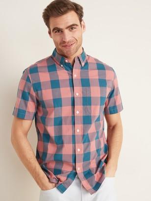 Old Navy Built-In Flex Everyday Short-Sleeve Shirt for Men