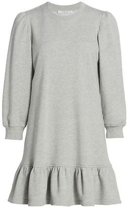 Derek Lam 10 Crosby Caden Ruffle Hem Sweatshirt Dress