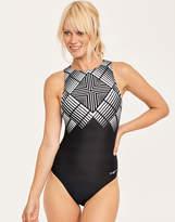 Zoggs Lux Sport Hi Front Swimsuit