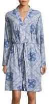 Lauren Ralph Lauren Wrap Front Printed Cotton Robe