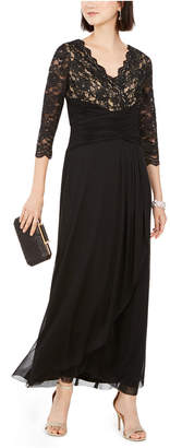 Jessica Howard Petite Lace-Top Gown
