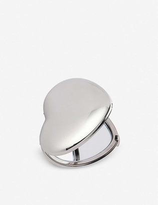 The White Company Sterling silver-plated heart compact