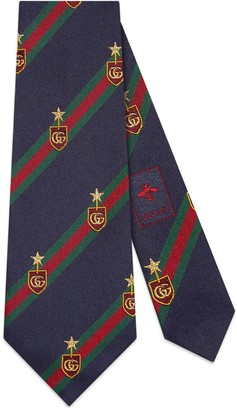 Gucci Web crest silk tie