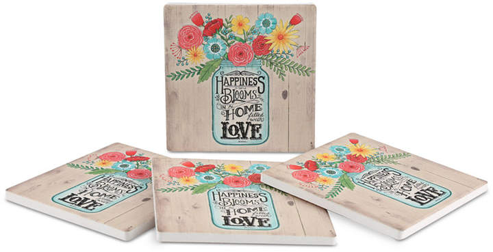 Thirstystone Home Filled with Love 4-Pc. Coaster Set
