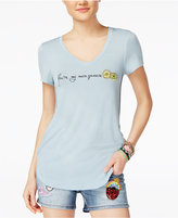 Rebellious One Juniors' Embroidered Fruit Graphic T-Shirt