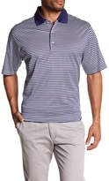 Peter Millar Classic Striped Partial Button Up Shirt