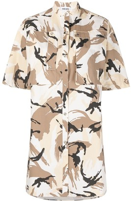 Kenzo Abstract-Print Shirt Dress
