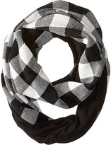 Plush Fleece - Lined Plaid Infinity Scarf