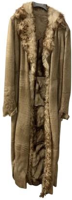 Sylvie Schimmel Camel Leather Coat for Women