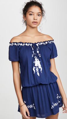 Tiare Hawaii Tulum Off the Shoulder Embroidered Dress