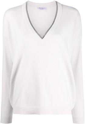 Brunello Cucinelli rhinestone-embellished loose-fit jumper