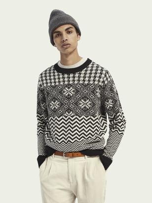 Scotch & Soda Lightweight wool-blend patterned pullover   Men