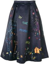 Mira Mikati printed satin skirt