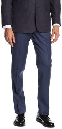 "Brooks Brothers Medium Blue Solid Regent Fit Suit Separates Trousers - 30-34"" Inseam"