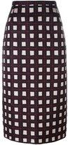 No.21 geometric patterned midi skirt