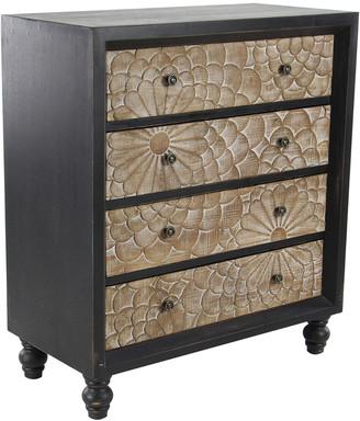 Uma Home Decor Payton Lane Extra-Large Rectangular Black Traditional Wooden Cabinet