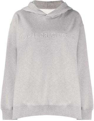 MM6 MAISON MARGIELA Embossed Logo Hoodie Sweatshirt