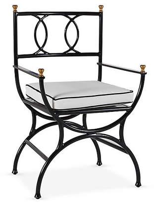 One Kings Lane Frances Bistro Chair - White/Black