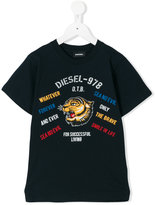 Diesel logo print T-shirt - kids - Cotton - 6 yrs