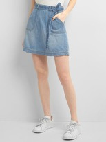 Gap High rise denim utility skirt