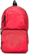 Armani Jeans logo print backpack - men - Polyamide - One Size